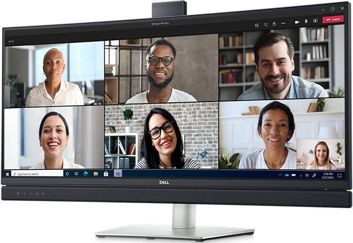 Dell's New Video Conferencing Monitors Have A Dedicated Microsoft Teams  Button | HotHardware