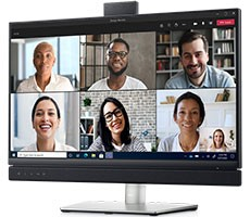 Dell's New Video Conferencing Monitors Have A Dedicated Microsoft Teams Button