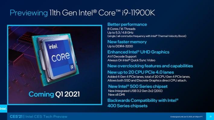 11900K specificaties