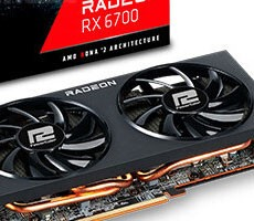 PowerColor Radeon RX 6700 Retail Non-XT Card Pictured With 6GB GDDR6