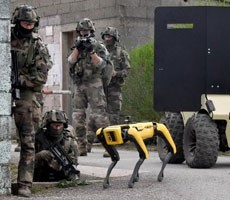 Watch Boston Dynamics Spot Robot Dog As Man's Best Friend In French Army Combat Training