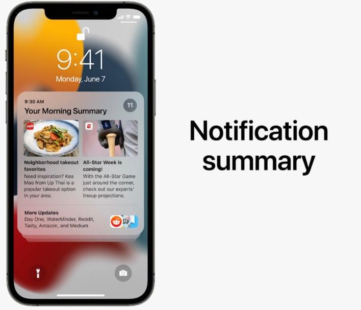 ios 15 notification summary