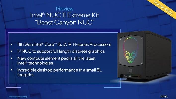 intel beast canyon nuc 11 extreme