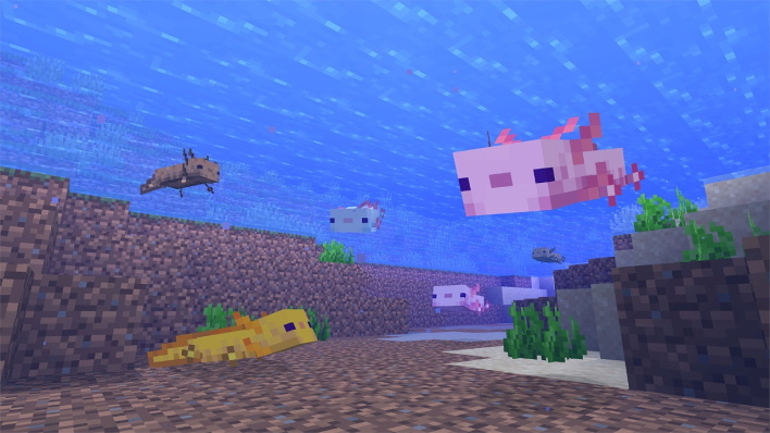 axolotl minecraft caves and cliffs part one update available right now
