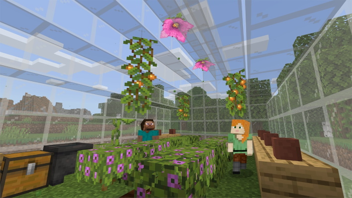 flowers minecraft caves and cliffs part one update available right now