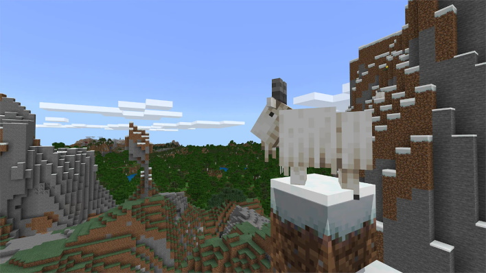 goat minecraft caves and cliffs part one update available right now