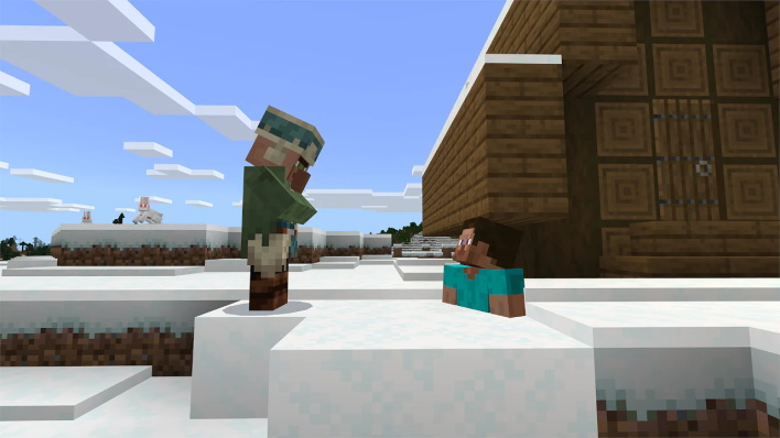 snow minecraft caves and cliffs part one update available right now