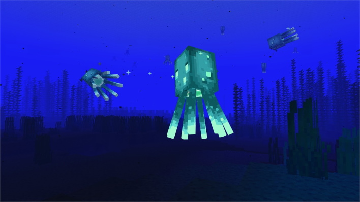 squid minecraft caves and cliffs part one update available right now