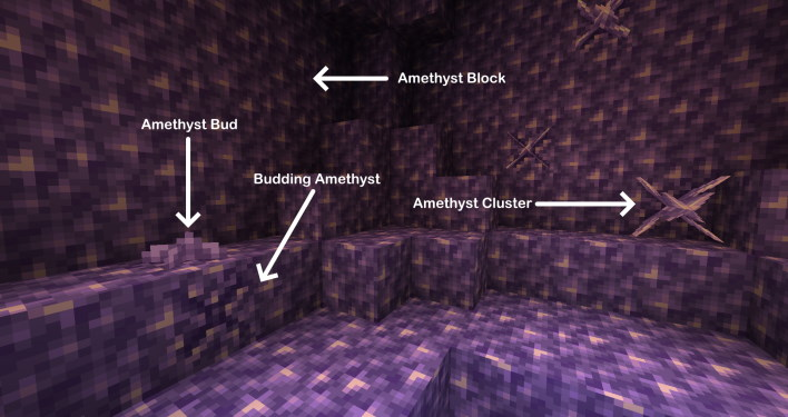 amethyst id minecraft 117 how to find axolotl and amethyst grow glow berries and craft a lightning rod