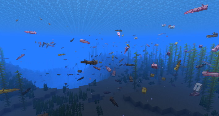 axolotl sea minecraft 117 how to find axolotl and amethyst grow glow berries and craft a lightning rod