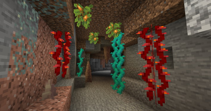 cave berries minecraft 117 how to find axolotl and amethyst grow glow berries and craft a lightning rod