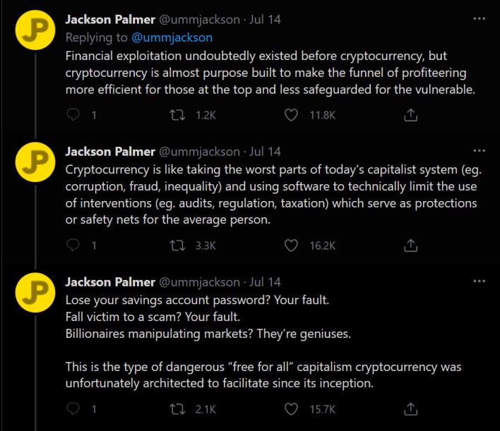 O co-fundador do exploit dogecoin diz que a criptomoeda é uma farsa dirigida por pessoas ricas e obscuras