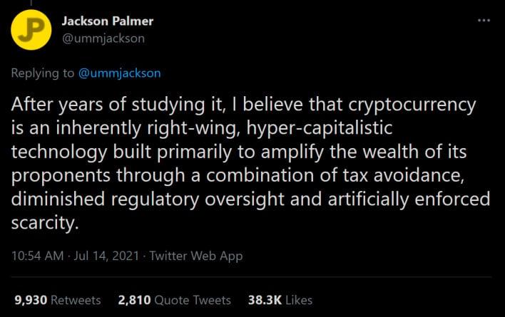 O cofundador da dogecoin hiper capitalista diz que a criptomoeda é uma farsa dirigida por pessoas ricas e obscuras