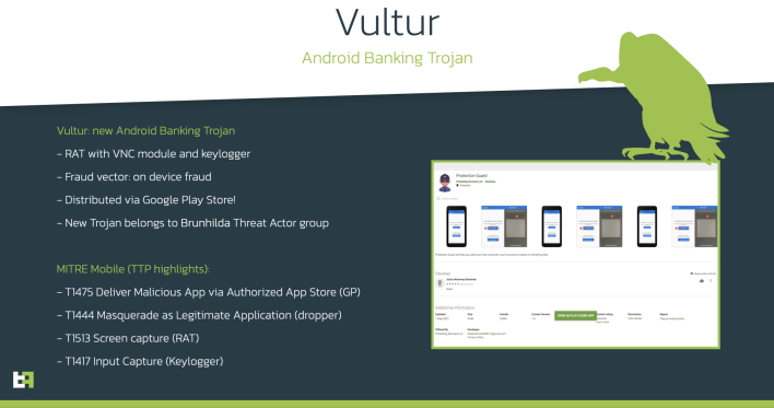 Vultur Android Malware Swoops In To Stealthily Steal Banking Credentials