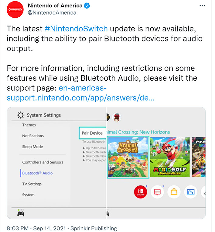Nintendo Switch Finally Adds Bluetooth Audio Support, But Here Are The Limitations