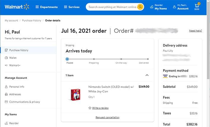 Precomandați Nintendo Switch OLED la Walmart