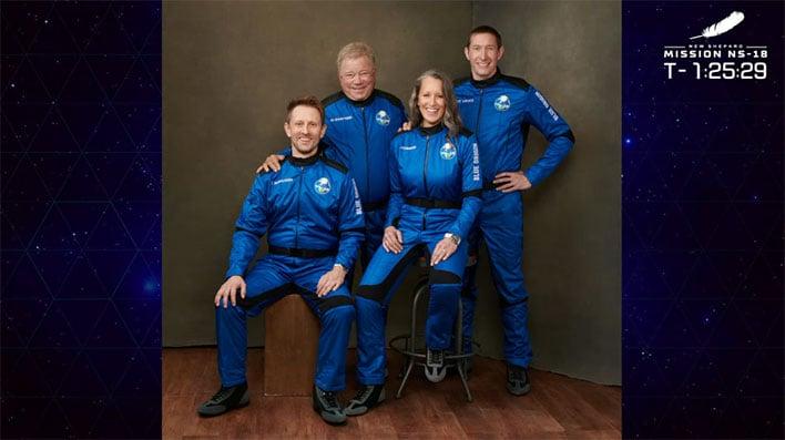 Watch William 'Capt. Kirk' Shatner Blast Off On Blue Origin And Set An Amazing Record