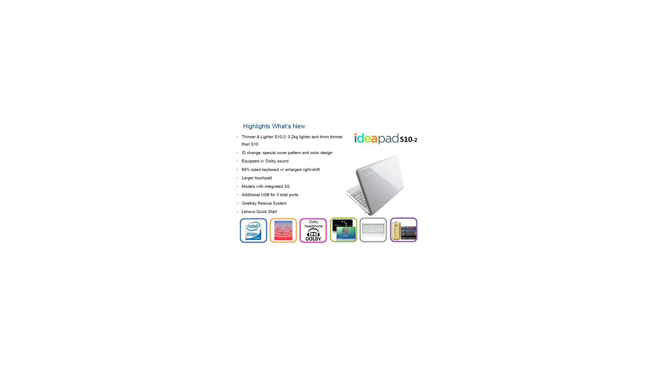Lenovo Debuts Tweaked IdeaPad S10-2 Netbook | HotHardware