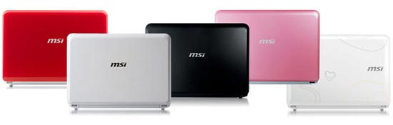 MSI WInd U100 Colors