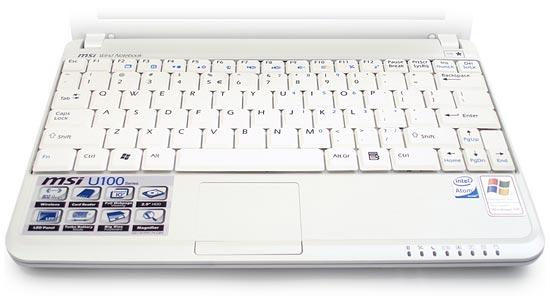 MSI Wind U100 keyboard