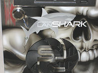 Smooth Creations LANShark front, close-up of logo