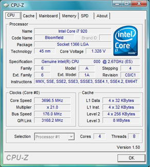 EX58-UD4P Overclocked Results