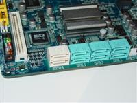 Front-angled SATA ports