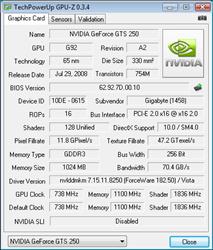 GPU-Z Default Specs
