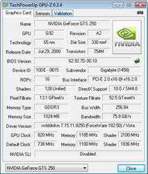 GPU-Z Overclocked Specs