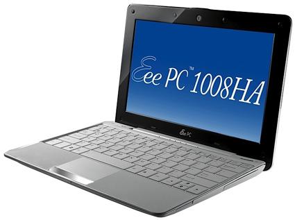 Asus Eee PC 1008HA Seashell Camera Mac