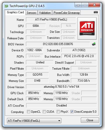 ATI FirePro V9800 Drivers Windows 7