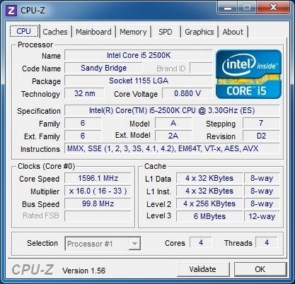 CPU-Z - (Stepped Down Clock)