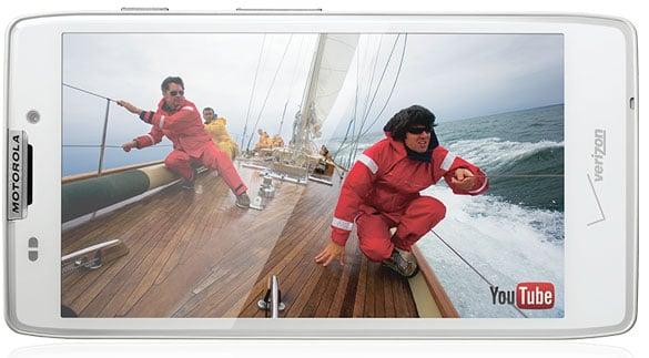 White Motorola RAZR HD