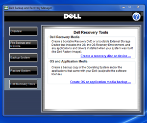 dell backup and recovery application download