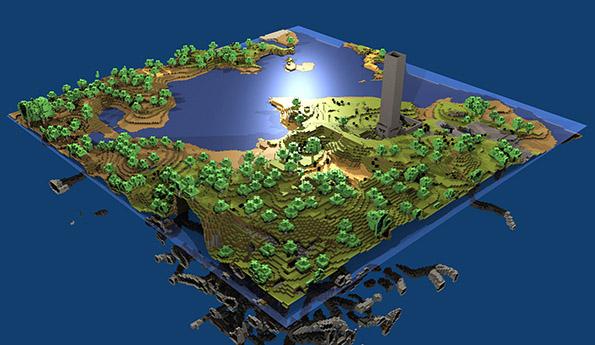 a Minecraft World Map