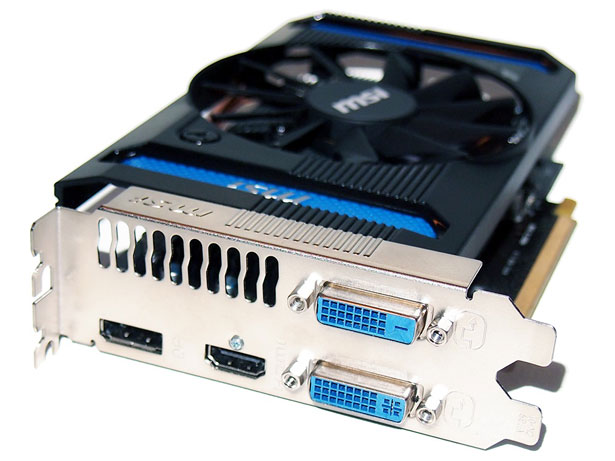 Output Panel of the MSI Radeon HD 7790