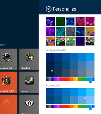 Windows 8.1 - Personalize