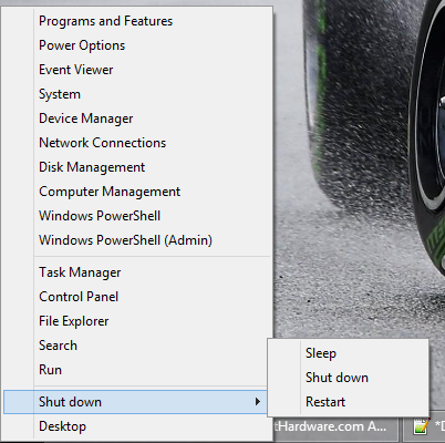 Windows 8.1 - Shutdown Shortcut