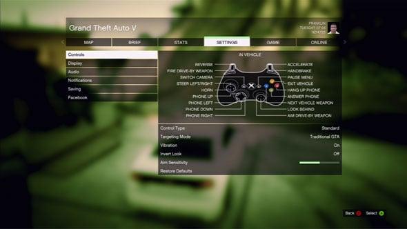 grand theft auto 5 keyboard controls