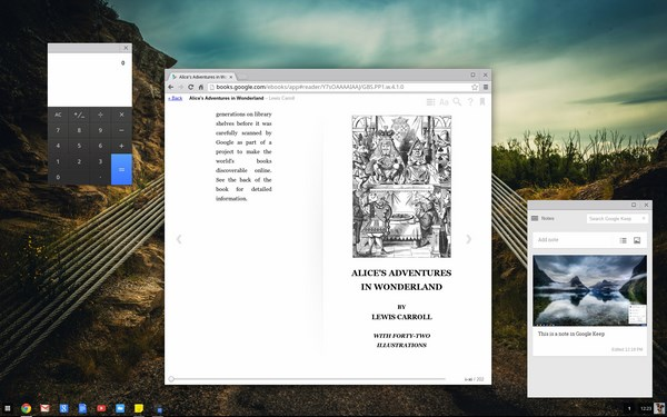 Chrome Calculator, Google Books, and Google Keep