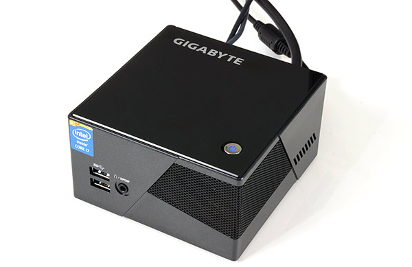 Gigabyte BRIX Pro Connected To Power, Keyboard and Monitor