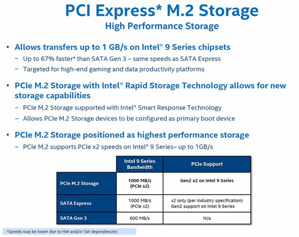 perhaps the most exciting feature for enthusiasts or performance-conscious  consumers coming with the 9-series chipsets is support for m 2 and/or sata