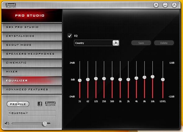 Sound Blaster ZxR Equalizer