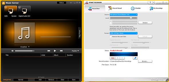 Sound Blaster ZxR Software