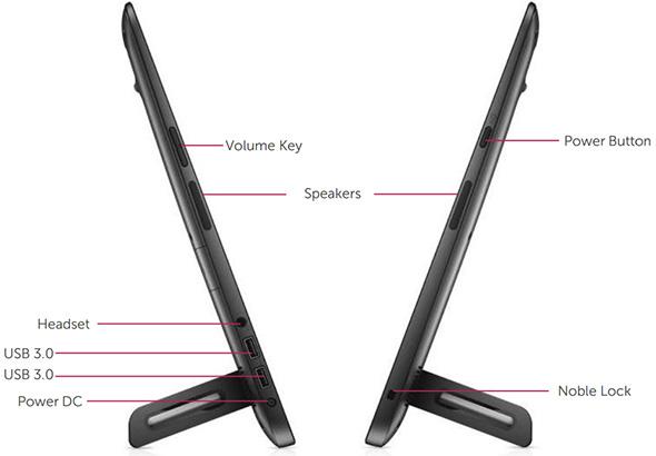 Dell XPS 18 Portable AIO Ports