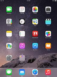 Apple iPad Air 2 iOS 8 Home Screen