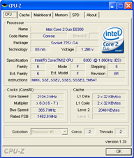 Overclocked CPU-Z Results