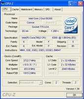 CPU-Z Overclocked Results