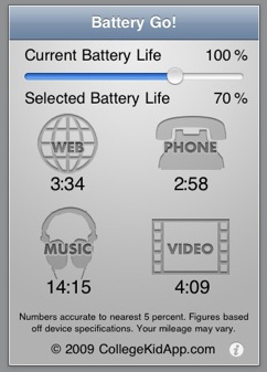 Battery Go!' App Details Remaining iPhone Life | HotHardware