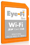 Eye-Fi Geo Wireless SD Card Adds Geotagging Support
